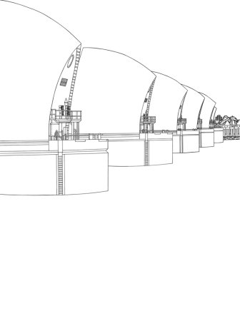 Thames Barrier line work.