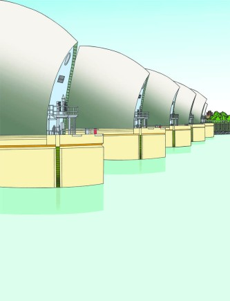 Final colouring for Thames Barrier